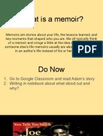 what is a memoir