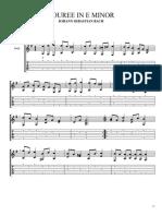 Johann Sebastian Bach - Bouree in E Minor (Guitar Pro)