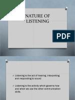Nature of Listening