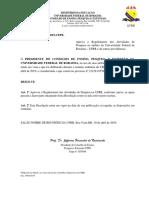 Resoluo n 009-19- Cria o PPG-Educao e Recomenda a Aprovao Do Regimento Interno Do PPG-Educao