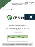 ETR-SSM-REG-002 Reglamento Interno de Seguridad y Salud en El Trabajo