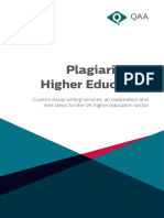 Plagiarism in Higher Education 2016