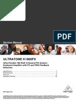 Behringer Ultratone K1800 Fx