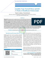 Behavior of Personality Type Toward Stress and Job perfomances A dtudy of healthcare professionals.pdf