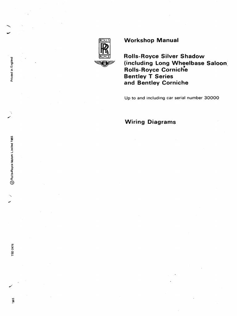 rolls royce manual before 30000.pdf   Electrical Wiring   Switch   1965 Rolls Royce Wiring Diagrams Diagram Schematic      Scribd