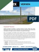 Southern Wire Griplock Vermin Brochure