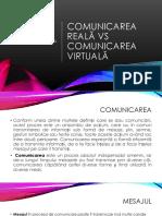 Comunicare virtuala vs comunicarea reala Consiliere si orientare