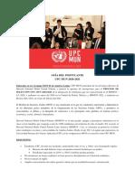 GUÍA DEL POSTULANTE UPC MUN 2020 - 2021