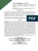 Decreto Extraordinario 0203 de 2001