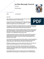 Tony Cox Letter