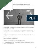 IT Versus IMT Impuesto Municipal a La Transferencia