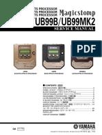 Service Manual - Yamaha Magicstomp UB99A UB99B UB99MKII.pdf