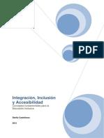 integración, inclusión y accesibilidad