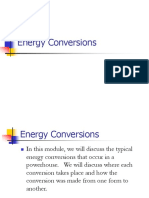 Energy Conversions