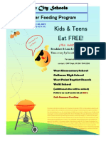Summer Feeding Program Flier