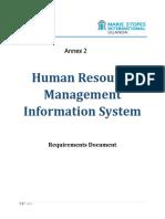 Annex 2 Hrmis Requirements