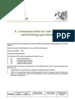 OMHEC ~ Communication hoisting operations