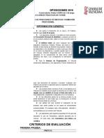 criterio evaluación 2016