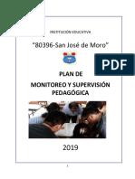 Plan de Monitoreo y Supervisión Pedagógica 2019 I.E SJM
