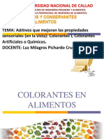 -Aditivos Que Mejoran Las Propiedades Sensoriales en VistaI, Colorantes Artificiales I,ColoranTes Artificiales