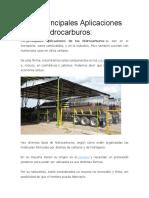 Las 5 Principales Aplicaciones de Los Hidrocarburos