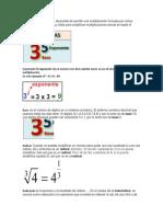Potencia Son Una Manera Abreviada de Escribir Una Multiplicación Formada Por Varios Números Iguales