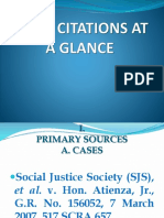 Legal Citations at a Glance