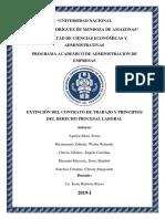 Extinción de Contrato y Principios Del Derecho Procesal
