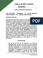 Demanda Ejecutivo Prendario Mauro
