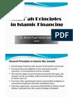 Shari`ah Principles in Islamic Finance