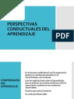 Perspectivas Conductuales Del Aprendizaje