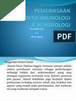 Pemeriksaan Diagnostik Imunologi & Hematologi