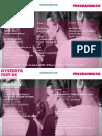 Programación Hysterya Fest DC