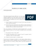 General Principles of Crime Scene Investigation