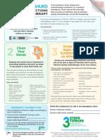 CDC 3 Steps Fact Sheet