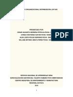 Diagnóstico Organizacional Distribuidora Lap Sas