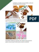 Te Proponemos 6 Manualidades Con Huellas de Manos Infantiles y Pintura de Dedos