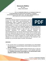 Denuncia sobre Panfletos en la Universidad de Antioquia