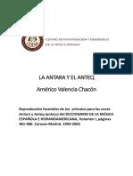 LA ANTARA Y EL ANTEQ_Autor Américo Valencia Chacón
