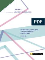 Furniture Fixtures Equipment Guidelines