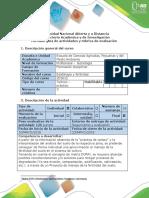 Guía de Actividades y Rúbrica de Evaluación - Tarea 6 - Construcción de Propuesta de Manejo de La Fertilidad Del Suelo a Partir de Matriz DOFA