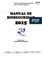 Manual de Bioseguridad Banco de Sangre