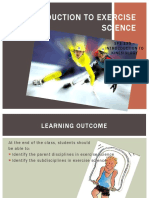 1.0 Introduction to Exercise Science-1