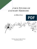 2016 Summer Recital