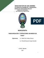 Monografia Bancarizacion Sin Documentos de Respaldo