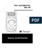 Manual Multímetro Automotivo Minipa MA-149