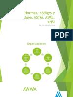 Normas, Códigos y Estándares ASTM, ASME
