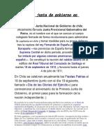 La Primera Junta de Gobierno en Chile (1)