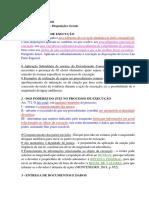 Ponto 01 - Execução - Disposições Gerais