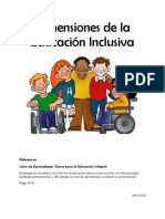 Dimensiones de La Educ. Inclusiva